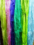 Silk fibers Stock Images