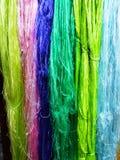 Silk fibers Stock Images