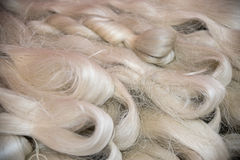 Silk fibres close-up Royalty Free Stock Photo