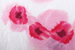Silk floral crumpled fabric background Royalty Free Stock Images