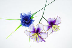 Silk flower arrangements Royalty Free Stock Photos