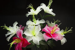 Silk flower arrangements Stock Photo