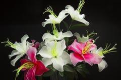 Silk flower arrangements Stock Photo