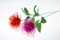 Silk flower arrangements Royalty Free Stock Photography