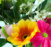 Silk flower bouquet Royalty Free Stock Images