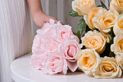 Silk flowers Stock Image