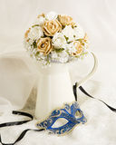 Silk flowers display Royalty Free Stock Photography