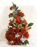 Silk flowers display Stock Photo