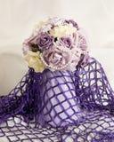 Silk flowers display Royalty Free Stock Photos