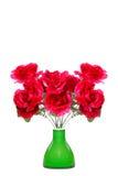 Silk flowers in vase Stock Image