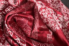 Silk fnrick. Background. Bright silk fabrics with easten pattern.r stock images