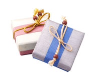 Silk gift boxes Stock Photography