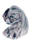 Silk gray scarf Royalty Free Stock Photos