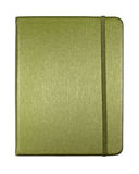 Silk green color cover note book isolated Royalty Free Stock Image