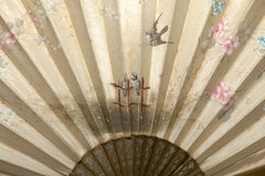Silk hand fan Royalty Free Stock Images