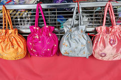 Silk Ladies Bags Royalty Free Stock Image