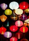 Silk lanterns. In Hoi An, Vietnam royalty free stock photo