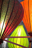 Silk Lanterns. Colorful silk lanterns stock photos