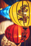 Silk lanterns in Hoi An ancient city,Vietnam Royalty Free Stock Photo