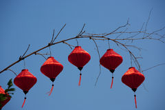 Silk lanterns in Hoi An city, Vietnam Royalty Free Stock Images