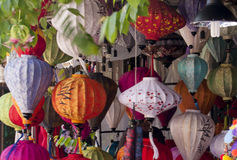 Silk Lanterns in Hoi An, Vietnam Stock Images
