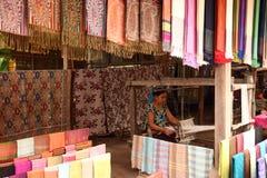 Silk in laos Royalty Free Stock Photo
