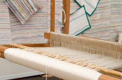 Silk on the loom. Stock Images
