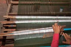 Silk making cambodia Royalty Free Stock Image