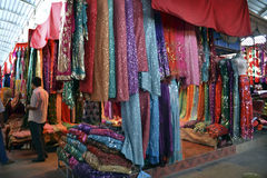Silk market. Indoor silk market in China Royalty Free Stock Photo