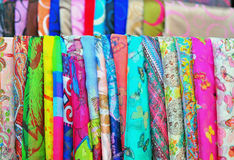 Silk in the market Royalty Free Stock Photos