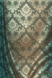 Silk material with decorative patterns. Royalty Free Stock Image