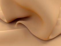 Silk milk cream liquid waves curve fabric texture 3D illustration. Curves silk background satin cloth or liquid milk illustration vector illustration