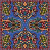 Silk neck scarf or kerchief square pattern design Stock Photo