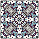 Silk neck scarf or kerchief square pattern design Royalty Free Stock Photography