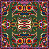 Silk neck scarf or kerchief square pattern design Stock Images
