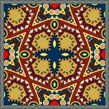 Silk neck scarf or kerchief square pattern design Stock Photos