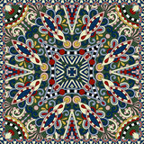 Silk neck scarf or kerchief square pattern design Royalty Free Stock Image