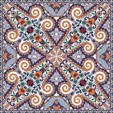 Silk neck scarf or kerchief square pattern design Stock Image