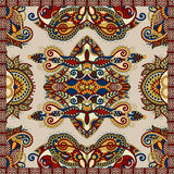 Silk neck scarf or kerchief square pattern design Stock Photography
