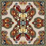 Silk neck scarf or kerchief square pattern design Royalty Free Stock Photos