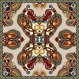 Silk neck scarf or kerchief square pattern design Royalty Free Stock Photos