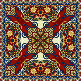 Silk neck scarf or kerchief square pattern Royalty Free Stock Photos