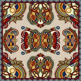 Silk neck scarf or kerchief square pattern design Royalty Free Stock Photo