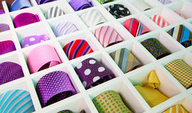 Silk neckties Stock Photo