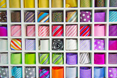 Silk neckties Royalty Free Stock Image