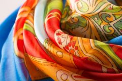 Silk Oberfläche Stockfotos
