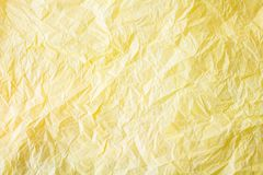 Silk paper. Yellow silk paper close up  background Royalty Free Stock Image
