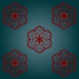 PRINT Silk pattern. Asian silk pattern PRINT. Decorative ornament on dark teal background, silk textile. Vector Illustration for Art, Print, Fashion, Home decor stock illustration