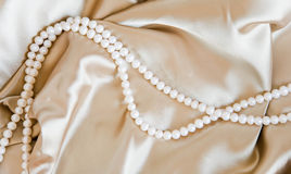 Silk & Pearl Royalty Free Stock Images