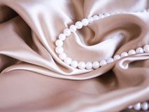 Silk & Pearl Royalty Free Stock Image